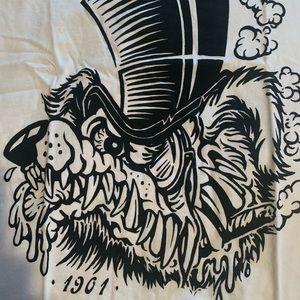 🐺 Men's Iron Fist Smoking Wolf T-Shirt